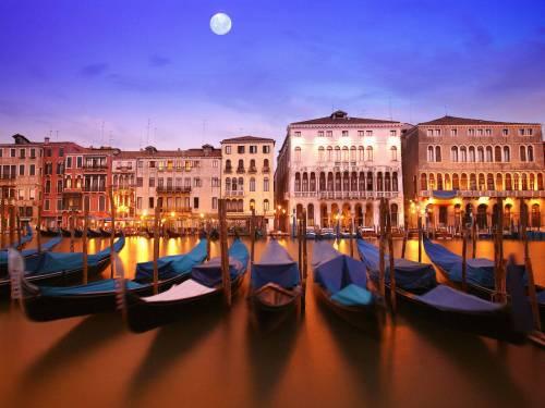 Gondolas-(Venice,-Italy)