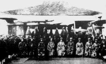 Ban giám khảo Trường thi Bình Định, khoa Ất Dậu -1885 (ảnh tư liệu)