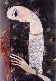 Tranh thiếu nữ của Nguyễn Trung