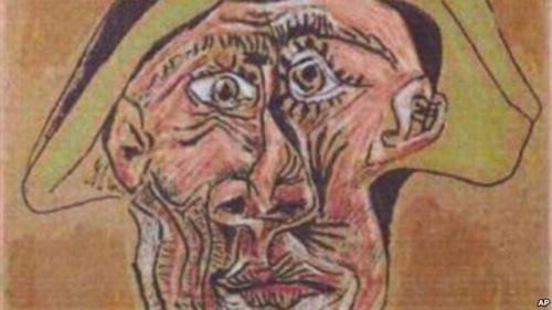 Bức Harlequin Head của danh họa Picasso