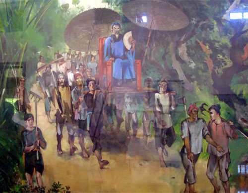 Ông Chảng về làng (Tranh minh họa tại Bảo tàng Quang Trung)