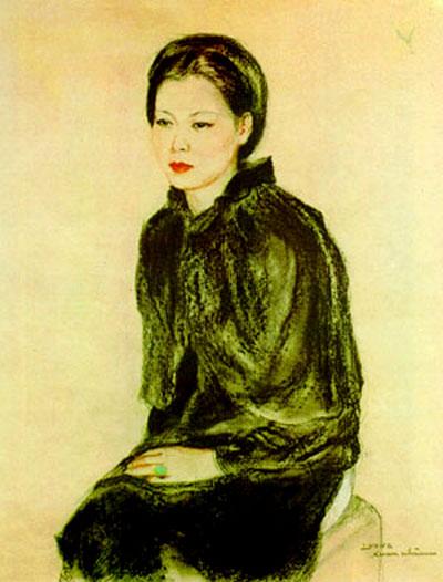 Bức tranh Thiếu phụ của họa sĩ Lương Xuân Nhị
