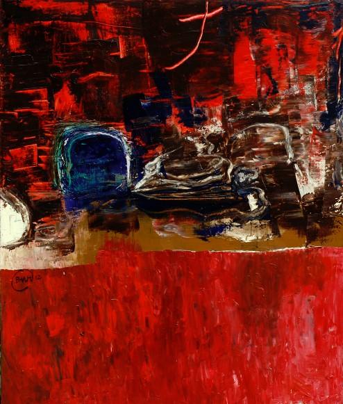 Bức tường trăng-Tranh Phạm Mạnh Hiên