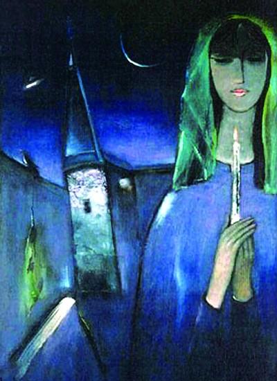 tranh họa sĩ Đinh Cường