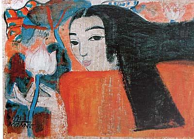 Cô gái và hoa sen - Nguyễn Sáng