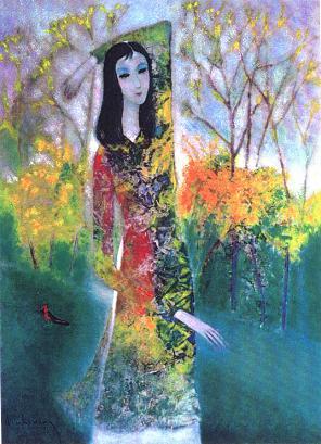 Tranh sơn dầu của họa sĩ Đinh Cường
