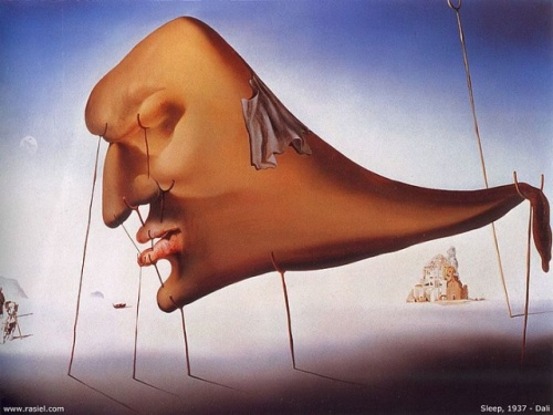 """Sleep"" - Salvador Dali (1937)"