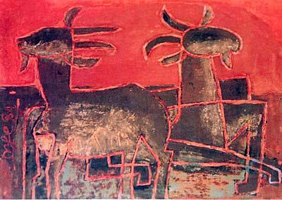 Tranh sơn mài của họa sĩ Nguyễn Tư Nghiêm