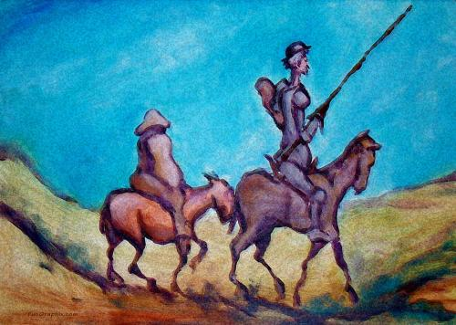 Don Quixote Paintings - Don Quixote by Kevin Middleton