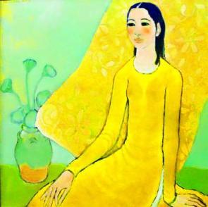 Image result for tranh sơn dầu thiếu nữ