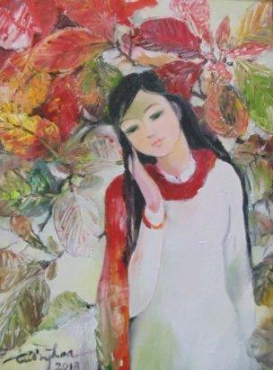 """""""Thiếu nữ và mùa Xuân"""" của Tôn Nữ Tường Hoa"""